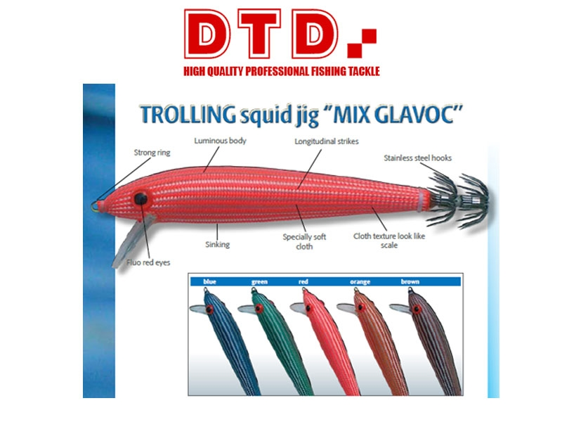 TROLLING SQUID JIG DTD MIX COLOR GLAVOC 3025