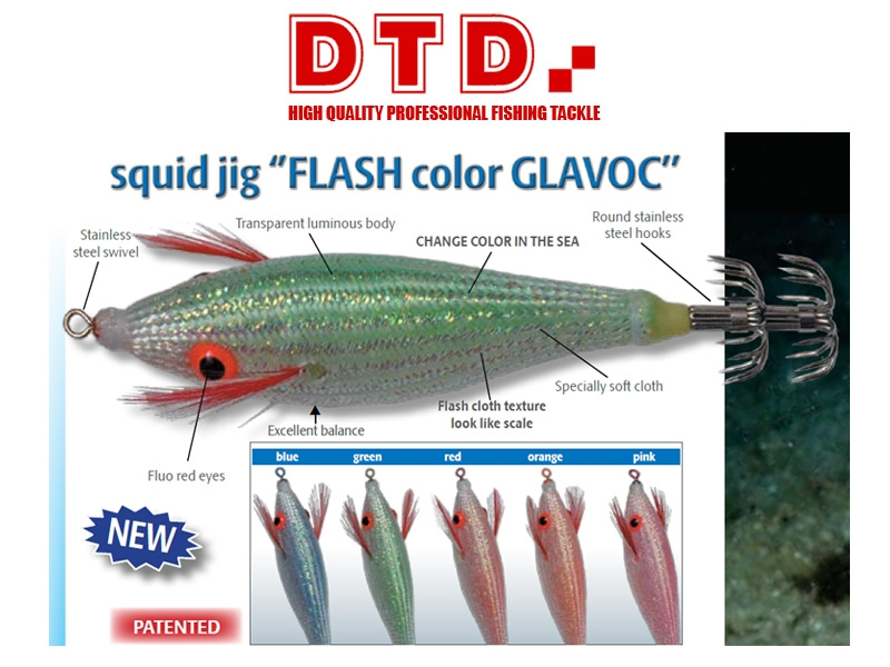 TOTANARA SQUID JIG FLASH COLOR GLAVOC 1073